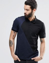 Religion Cut And Sew Polo Shirt Navy Blue
