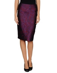 Charlott Knee Length Skirts Purple