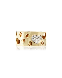 Nanis 18K Thick Heart Cutout Band Ring Size 6.5