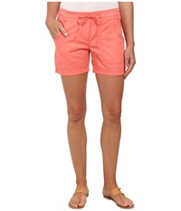 Tommy Bahama Solana Sateen Shorts Coral Bluff Women's Shorts Orange
