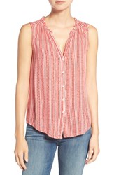 Velvet By Graham And Spencer Women's Sleeveless Blouse Redvine