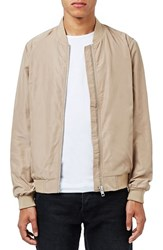 Topman Men's Lightweight Bomber Jacket Stone
