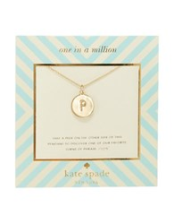 Kate Spade One In A Million Letter P Pendant Necklace Gold