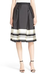 Women's Ted Baker London 'Kinsley' Stripe Midi Skirt Black