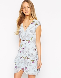 Traffic People Birds Of A Feather Whisper Dress Blue