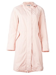 Jil Sander Hooded Parka Pink And Purple