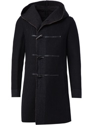 The Viridi Anne The Viridi Anne Hooded Duffle Coat Black