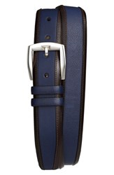 Men's Mezlan 'Lipari Ascot' Belt Blue Brown