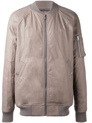 Rick Owens Padded Bomber Jacket Nude And Neutrals