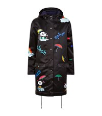 Mira Mikati Rain Rain Go Away Parka Coat Female Navy