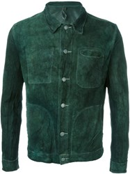 Giorgio Brato Buttoned Leather Jacket Green
