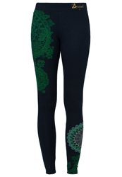 Desigual Danae Leggings Marino Blue