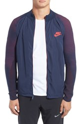Nike Men's Technical Woven And Knit Zip Track Jacket Obsidian University Red