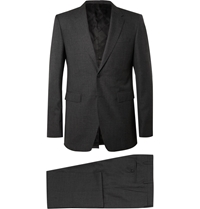 Burberry Grey Slim Fit Wool Suit Gray