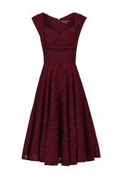 Jolie Moi Ruched Crossover Bust Prom Dress Red