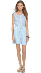 Three Dots Colette Sleeveless Shirtdress Chambray