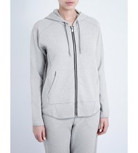 Whistles Luxe Jersey Hoody Grey
