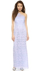 Shoshanna Maia Lace Gown Lilac