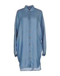 Pinko Tag Denim Denim Shirts Women Blue