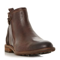 Dune Colonel Cleated Sole Ankle Boots Tan