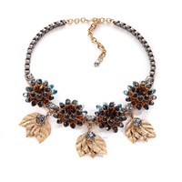 Vittorio Ceccoli Statement Necklace With Flower Explosion Gold