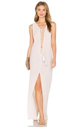 Indah Island Lace Up Maxi Dress Beige