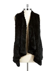 Linda Richards Rabbit Fur Vest Black