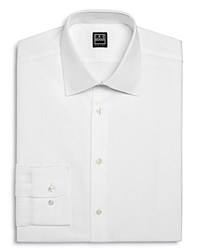 Ike Behar Twill Solid Regular Fit Dress Shirt White