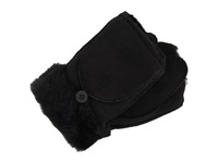 Ugg Shearling Flip Mitten Black Wool Gloves