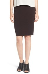 Eileen Fisher Petite Women's Knee Length Wool Crepe Knit Skirt Clove