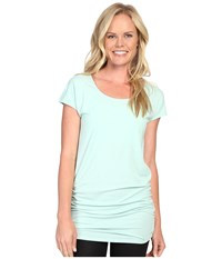 Lucy Yoga Girl Tunic Top Morning Mist Heather 1 Women's Workout Green