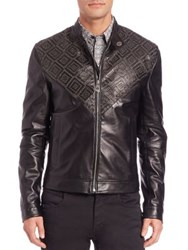 Versace Leather Bomber Jacket