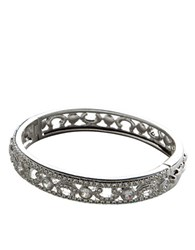 Nadri Rhodium Plated Crystal And Cubic Zirconia Bangle Clear