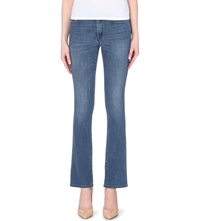 Diesel Doris Slim Fit Bootcut Stretch Denim Jeans Blue