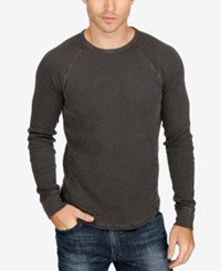 Lucky Brand Men's Lived In Thermal Shirt Black Mountain