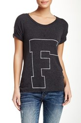 Rebel Yell F U X Boyfriend Tee Black
