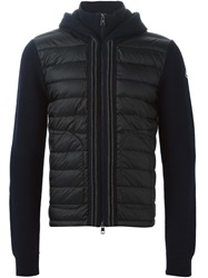 Moncler Padded Panel Cardigan Blue
