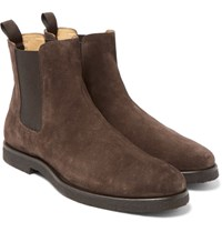 Officine Creative Harvard Suede Chelsea Boots Brown