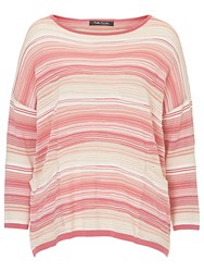 Betty Barclay Candy Stripe Oversized Jumper Pink Beige