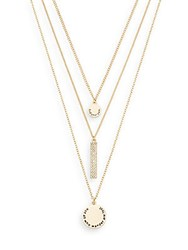 Bcbgeneration Three Piece 'Find Your Path' Charm Necklace Set Gold