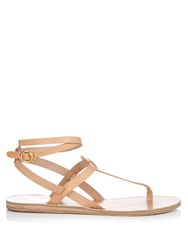 Ancient Greek Sandals X Ilias Lalaounis Estia Leather Sandals Light Tan