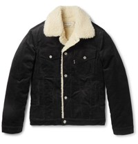 Maison Kitsune Maion Kitune Lim Fit Cotton Corduroy Jacket Black