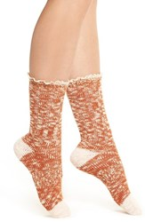 Urban Outfitters Women's Free People 'Melbourne' Boot Socks Orange Combo