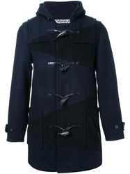 Anrealage 'Noise Panel' Duffle Coat Blue