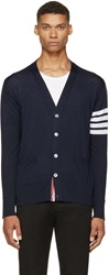 Thom Browne Navy Striped Armband Cardigan