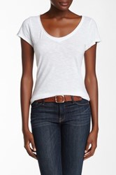 14Th And Union Raw Edge V Neck Tee White