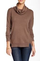 Kier And J Cowl Neck Cashmere Sweater Brown