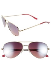 Women's Bcbgmaxazria 'Sunshine' 55Mm Aviator Sunglasses Gold