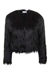 Faux Fur Coat By Glamorous Black