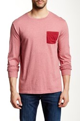 J.Crew Factory Long Sleeve Contrast Pocket Tee Multi